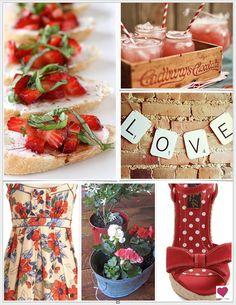 Rustic Chic Strawberry Wedding Inspiration Board By Heart Love Weddings