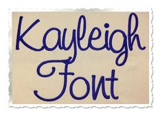$2.95Kayleigh Machine Embroidery Font Alphabet