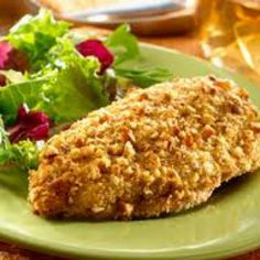 Biggest Loser Pecan-Crusted Chicken 5 Smartpoints - weight watchers recipes Z Skinny Recipes, Ww Recipes, Low Carb Recipes, Chicken Recipes, Cooking Recipes, Healthy Recipes, Healthy Meals, Chicken Meals, Healthy Options