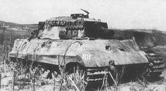 Even a King Tiger can die. This PV VI B belonging to 509.Heavy Tank Battalion was knocked out by Soviet artillery during the battle at Lake Balaton Hungary March 1945.