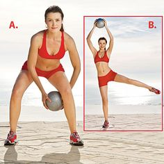 This Figure Eights with medicine ball move will give you a full-body workout. | Health.com