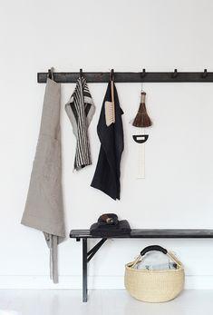 Varpunen - Styling for Ellos by Susanna Vento Hallway Inspiration, Bathroom Inspiration, Cleaning Cupboard, Bungalow, Beautiful Interior Design, Wall Racks, Scandinavian Interior, Clean Design, Cozy House