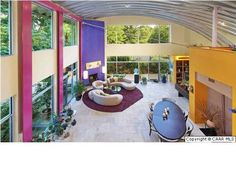 quite possibly the coolest quonset hut home I've ever seen.