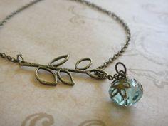 Lariat+Style+Aquamarine+Crystal+Nest+Necklace+by+amula+on+Etsy,+$10.00