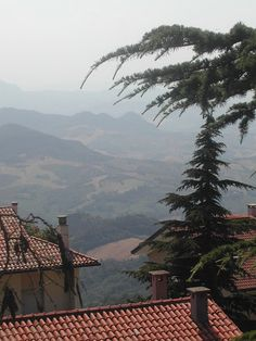 Beautiful view from the rooftops in the City of San Marino, Republic of San Marino. (V)