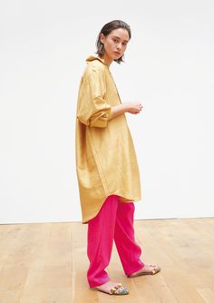 Collection Printemps Eté • Spring Summer 2017 • Dieulafoy Shirt • www.mesdemoisellesparis.com/e-shop/fr/chemises/chemise-dieulafoy David Pants • www.mesdemoisellesparis.com/e-shop/fr/pantalon-shorts/pantalon-david Tiyi Shoes • www.mesdemoisellesparis.com/e-shop/fr/accessoires/mules-tiyi #mesdemoiselles #collection #springsummer #clothes #look #outfit #mesdemoisellesparis