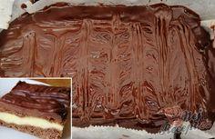 Jednoduchý a přitom fantastikcý recept na pudinkové kostky se zakysanou smetanou.   NejRecept.cz No Bake Cake, Rum, Tiramisu, Brownies, Cooking Recipes, Sweets, Beef, Baking, Food