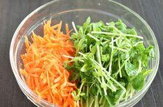 【レンジで簡単】豆苗とにんじんのナムル by はっとりみどり | レシピサイト「Nadia | ナディア」プロの料理を無料で検索