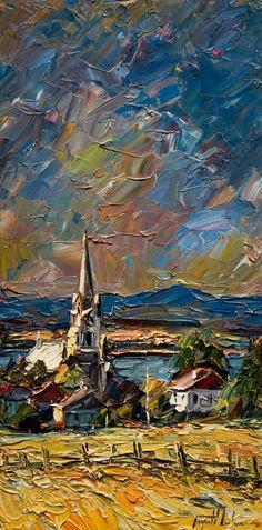 Raynald Leclerc - impasto painting