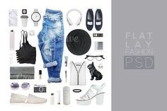 Fashion Set outfits (250) by Trefilova Anna on @creativemarket