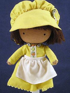 "Very sweet ""Yellow Dress Girl"" Joan Walsh Anglund pocket doll, 1977. Via Vintage Goodness"