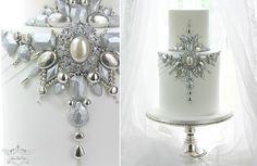 Jewelled & Beaded Winter Wedding Cakes - Cake Geek Magazine
