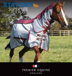 This technical summer rug has been updated for 2016. Contemporary styling combined with revolutionary super lightweight material. Developed for protection against the sun, heat build-up, flies and insects. £102.99, also available red. (www.premierequine.co.uk)