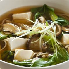 Try this Tofu and Mushroom Miso Soup recipe.