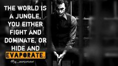 The Joker is one of the most loved comic book villain of all time and it& notjust because of his comics and movies but also the huge amount of … Heath Ledger Joker Quotes, Best Joker Quotes, Batman Quotes, Badass Quotes, Best Quotes, Movie Quotes, True Quotes, Motivational Quotes, Inspirational Quotes