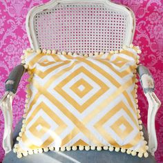 Pink and yellow, hmmm, well it seems to work here! Layla Grayce, Creative Colour, Pink Yellow, Home Furnishings, Nursery Decor, Sweet Home, Palette, Challenge, Pillows