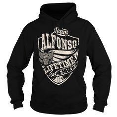 Last Name, Surname Tshirts - Team ALFONSO Lifetime Member Eagle
