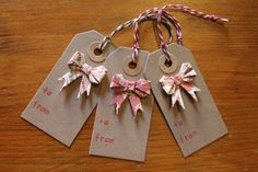Christmas Gift Tags with Origami Bows, Present Tag, Gift Tag, Christmas Tag, Gift label