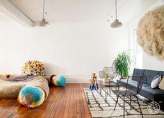 An Art Studio's Weird and Wonderful Office Design - @Homepolish Brooklyn