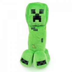 The Creeper plush is very soft, and almost feels like some sort of velour. The Creeper is well stitched and well styled. It's a superior plush Creeper and we're sure the Minecraft fan in your life Min Creeper Minecraft, Mojang Minecraft, Minecraft Toys, Minecraft Party, Minecraft Furniture, Minecraft Skins, Minecraft Buildings, Minecraft Pillow, Minecraft Bedding