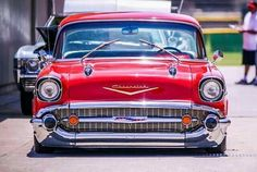 whole lotta led - Auto 2019 1957 Chevy Bel Air, Chevrolet Bel Air, Old Classic Cars, Classic Trucks, Vintage Cars, Antique Cars, Chevy Muscle Cars, Us Cars, Amazing Cars