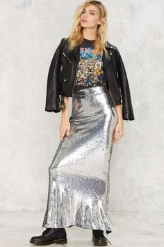 Glam to the Bone Sequin Skirt - Party Shop ~ Anti-Prom