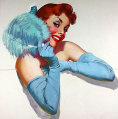 Harry Ekman pin-up girl images - The Pin-up Files Pin Up Vintage, Retro Vintage, Vintage Woman, Vintage Ladies, Gil Elvgren, Pin Up Pictures, Girl Pictures, Girl Artist, Art Girl