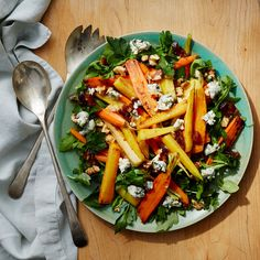 Date and Blue Cheese ­Roasted Carrot Salad | Weight Watchers Canada