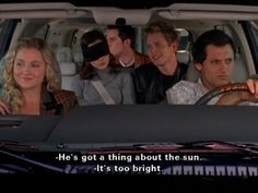 """Logan: """"He's got a thing about the sun."""" Finn: """"It's too bright."""""""