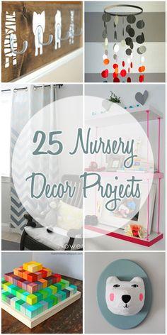 25 Nursery Decor Projects   Remodelaholic.com #nursery #decorating #DIY