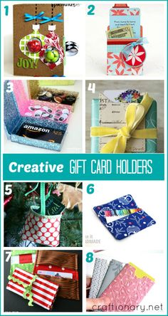 Christmas gift card wrapping ideas