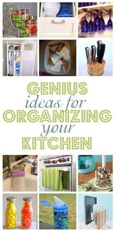 Genius-Ideas-For-Organizing-Your-Kitchen | Top DIY Ideas