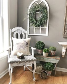 DIY Farmhouse Living Room Wall Decor - Decoration for All Farmhouse Bedroom Decor, Country Farmhouse Decor, French Country Decorating, Modern Farmhouse, Farmhouse Ideas, Rustic Decor, Farmhouse Style, Shabby Chic Wall Decor, Farmhouse Design