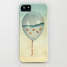balloon fish iPhone & iPod Case by Vin Zzep | Society6