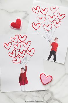 Use paper rolls to make this easy Valentine balloon craft. A fun and simple Valentine's day craft for kids using recycled materials! Preschool Valentine Crafts, Ladybug Crafts, Valentines Day Activities, Valentines For Kids, Valentine Ideas, Valentines Balloons, Balloon Crafts, Valentine's Day Crafts For Kids, Crafty Kids