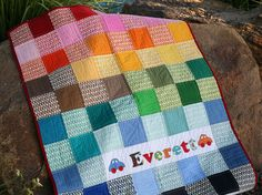 Easy Pezzy Crib Quilt by PileOFabric, via Flickr