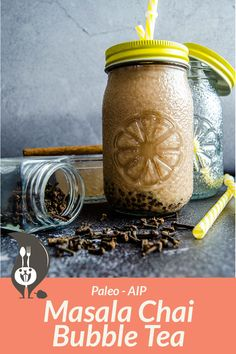 dairy free smoothie If youre craving for a spicy-sweet beverage, then this AIP masala chai mini bubble tea is right up your alley. Ready in 30 minutes with only 8 ingredients! Japanese Street Food, Vietnamese Dessert, Ice Milk, Philippines Food, Masala Chai, Dairy Free Milk, Tea Latte, Thing 1, Tea Recipes