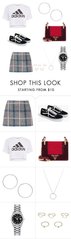 """""""Rings"""" by belleza-cruel ❤ liked on Polyvore featuring J.Crew, adidas, Prada, Miss Selfridge, Roberto Coin, Rolex and MANGO"""
