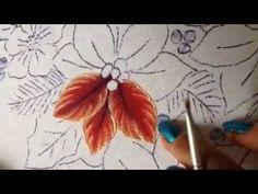 Pintura en tela nochebuenas del oso # 1 con cony - YouTube