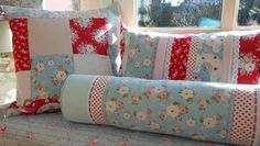 Large patchwork Tilda bolster pillow in springcolours by Cornsant, €45.00
