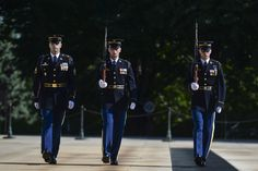 Soldiers perform the changing-of-the-guard ceremony on Memorial Day at Arlington National Cemetery in Arlington, Va., May 25, 2015. DoD photo by EJ Hersom