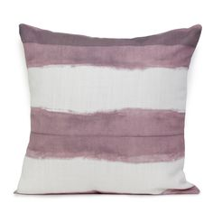 Shibori Stripe Cushion- Rose