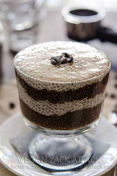 Vanilla Latte Chia Parfait #vegan