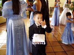 The Ring Bearer at my brother's wedding. (My Nephew Grant)