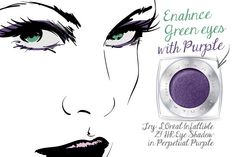 "Purple is the most-flattering ""playful"" eye color for green eyes. Here's why!"