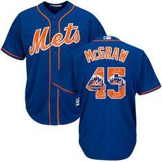Mets  45 Tug McGraw Blue Team Logo Fashion Stitched MLB Jersey e42a4d962