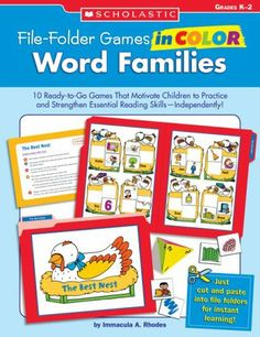 File-Folder Games in Color: Word Families: 10 Ready-to-Go Games That Motivate Children to Practice and Strengthen Essential Reading Skills—Independently! by Immacula A Rhodes, http://www.amazon.ca/dp/0439517680/ref=cm_sw_r_pi_dp_3k5Dtb0BW0FCR