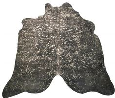 Black & Gold Metallic Cowhide Rug - modern - rugs - london - by City Cows