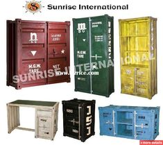 Industrial Furniture Container Range , FACTORY FURNITURE, WORK FURNITURE, Metal Furniture,Vintage metal furniture / India Other Metal Furniture for sale from SUNRISE INTERNATIONAL - Bizrice.com