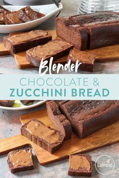 Paleo chocolate and zucchini blender bread Chocolate Zucchini Bread, Paleo Chocolate, Whole Food Recipes, Cake Recipes, Cooking Recipes, Hidden Vegetables, Original Recipe, Healthy Desserts, The Fresh